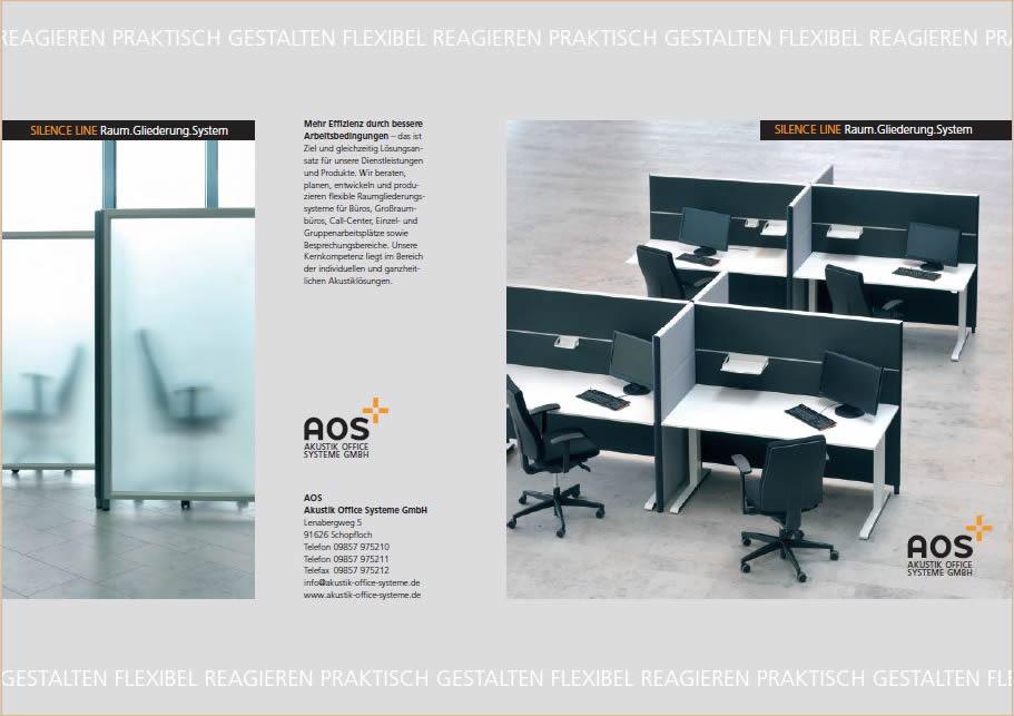 Schalltrennwände Innenraum Büro: AOS Akustik Office Systeme, bestellen